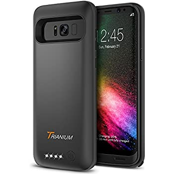 new arrival 34a2f e4aa2 Galaxy S8 Battery Case, Trianium Atomic Pro s8 Charging Battery Pack for  Samsung Galaxy S8 5.8-inch Phone - 4500mAh Extended Battery Fast Charger ...