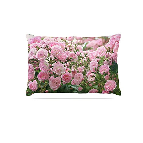 30 by 40\ Kess InHouse Sylvia Cook The Fairy pink  Pink Floral Fleece Dog Bed, 30 by 40