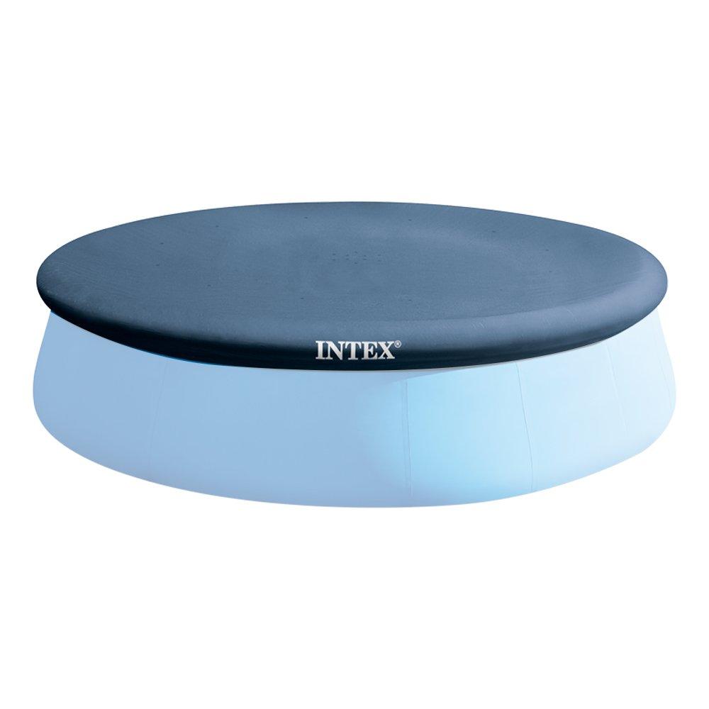 Intex 28020 Telo di Copertura Estivo per Piscine Easy Tonde, Blu, 244 cm 28020E copripiscina