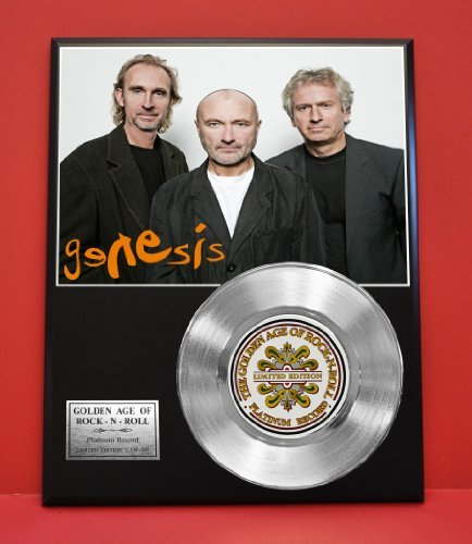 Genesis LTD Edition Platinum Record Display - Award Quality - Music Memorabilia - from Gold Record Outlet