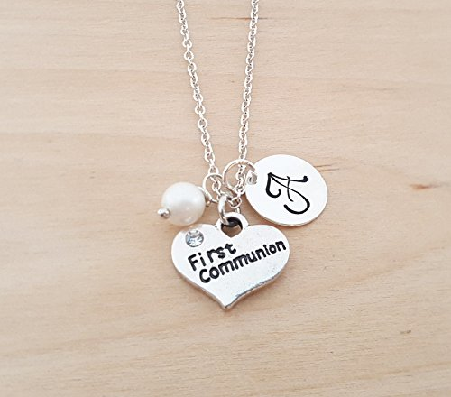necklace dp confirmation miraculous s girl amazon pearl cross with sterling silver cultured and communion jewelry com first