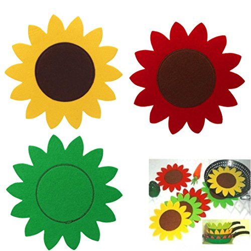 GBSELL Easter Decor Sun Flower Wok Tableware Mat Gift Creative Present Home Accessory