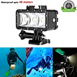 Waterproof Diving Light - ProCIV High Power Dimmable LED Light Underwater Light 1200mAh Built-in Rechargeable Battery 40m Underwater Video Fill Light Night Light for GoPro Hero 5 4 Session 5 4 3+ 3