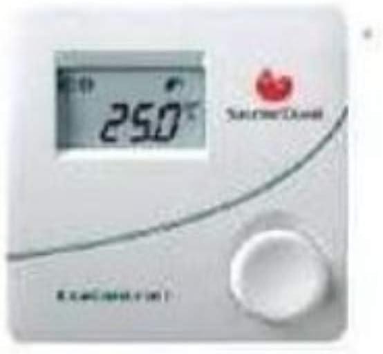 Saunier Duval Termostato ambiente no programable serie Exacontrol E con cable de 230 V/50 Hz, modulante, fácil de usar, 3 x 10 x 10 centímetros (referencia: 0020017839), blanco, estándar