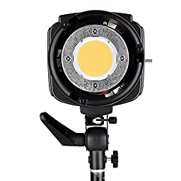 Godox SL-200W 200WS 5600K White Version LCD Panel LED Video Light Continuous Output Bowens Mount Studio Light + CEARI MicroFiber Cloth