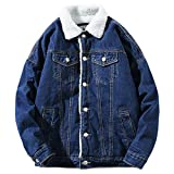 Product review for Dora Bridal Men's Sherpa Lined Denim Jacket Button Down Classy Thicken Warm Casual Fashion Quilted Jeans Coats Outwear