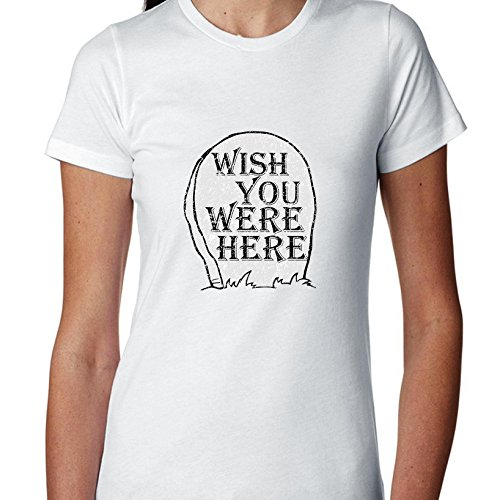 Wish You were Here Headstone Women's Cotton T-Shirt -