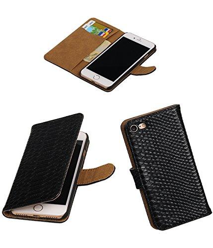 MobileFashion Serpent Book Cases pour Iphone 7 Portefeuille Case Cover Booktype avec Slots pour cartes et support