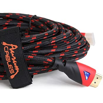 Aurum Ultra Series - High Speed HDMI Cable 25 Ft with Ethernet - Supports 3D & ARC [Latest Version] - 25 Feet