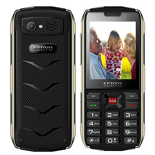 Peedeu Button Mobile Phone for Elderly,Unlocked Easy Mobile Phone for Senior,SOS Mobile Phone(2.8inch,4 SIM,GPRS,3000mAh Battery,Camera,Bluetooth,Torch) (Best Cell Phone Service For Elderly)