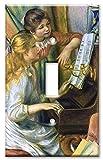 Art Plates - Renoir: Girls at Piano Switch Plate - Single Toggle
