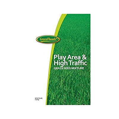 Barenbrug Usa 66666 Green Thumb, 25 Lb, Play Area & High Traffic Grass Seed,