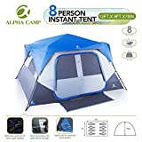 ALPHA-CAMP-8-Person-Instant-Cabin-Tent-CampingTraveling-Family-Tent-Lightweight-Rainfly-With-Mud-Mat