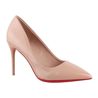 Damen Pumps Schuhe Elegant High Heels Bequeme Schwarz 38 M7jdbP8Z