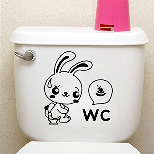 Wall stickers wall stickers idea Bunny toilet stickers removable carved , 2020cm-YU&XIN