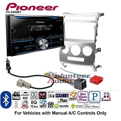 - Volunteer Audio Pioneer FH-S500BT Double Din Radio Install Kit with CD Player Bluetooth Fits 2007-2012 Hyundai Veracruz (Manual A/C Controls)