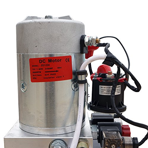 High Quality Double Acting Hydraulic Pump12V Dump Trailer- 6 Quart 3200 PSI Max. by Fisters (Image #4)