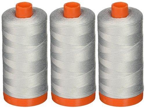 3-PACK - Aurifil A1050-2600 Mako Cotton Thread Solid 50WT 1422Yds Dove by Aurifil