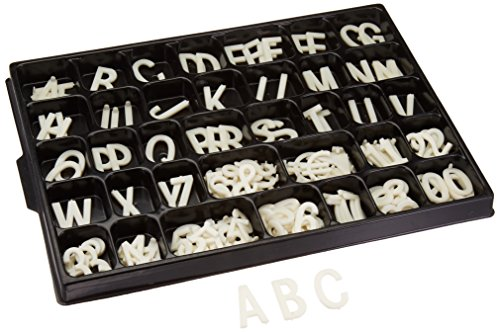 - Displays2go White Letter Kit for Grooved Sign Boards, 1.5