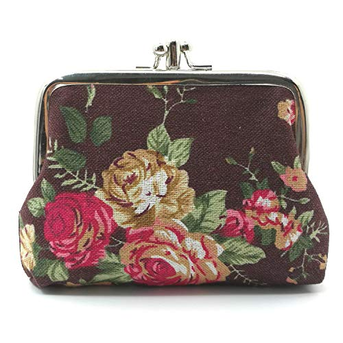 oin Purses Vintage Pouch Kiss-lock Change Purse Wallets (04) ()