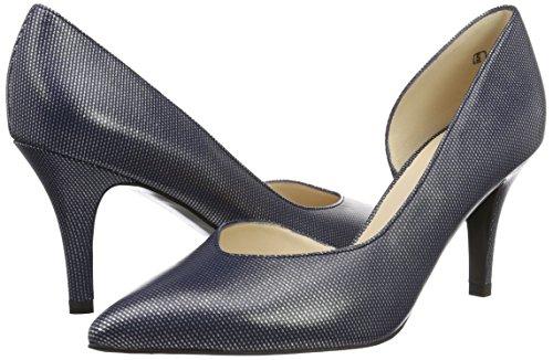 Zapatos Para Cerrada De Kaiser notte Azul Emine Crown Con Tacón Peter 353 Punta Mujer 0a8Eqtw