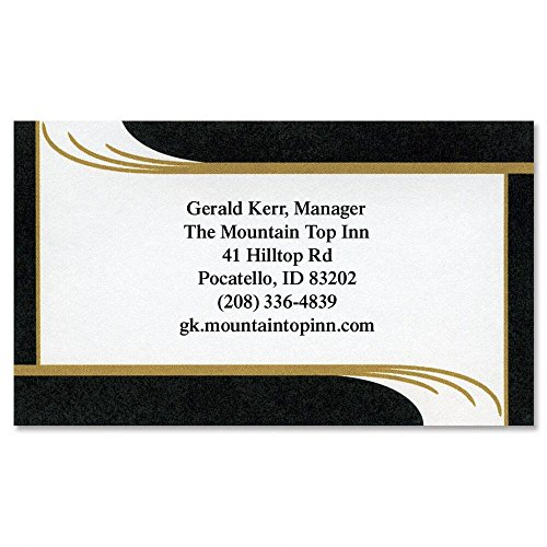 Onyx Personalized Business Cards (Set of 250)