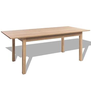 Vidaxl Table Extensible De Salle À Manger Marron Clair 120/160 X 70