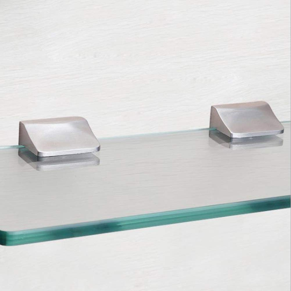 Whale GoGo 2 Pieces/One Pair Glass Clip 304 Shower Interior Shelf Clamp for 0.27'' (7mm) to 0.35'' (9mm) Glass,Surface Drawing by Whale GoGo (Image #4)