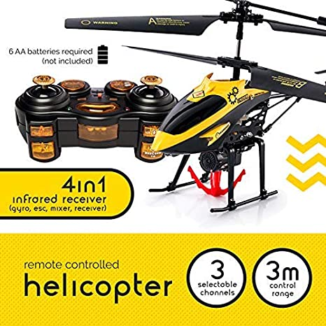 RC Remote Control Helicopter Gifts for Teenagers Boys Girls | 3CH Channel  Gyro RC Helicopter with Winch Carry Basket, LED Mini Indoor Outdoor Radio