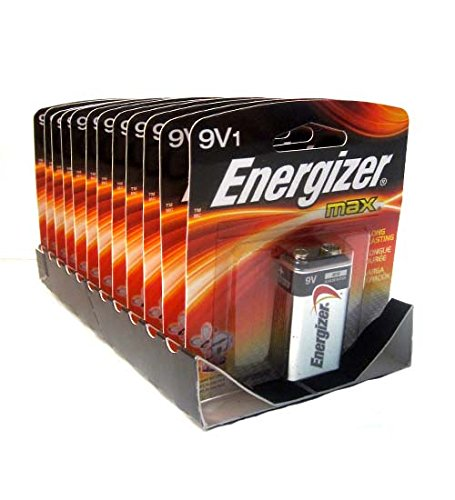 Energizer Batteries 9V1 1ct, Case of 12 by DollarItemDirect