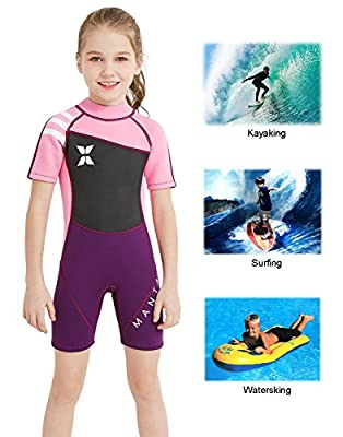 DIVE & SAIL Kids 2.5mm Warm Wetsuit One Piece UV Protection Shorty Suit