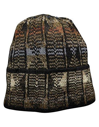 Invisible World Women's Alpaca Wool Hat Knit Unisex Beanie Winter Reflexion Md