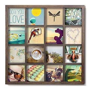 Umbra Gridart Collage Picture Frame, Walnut
