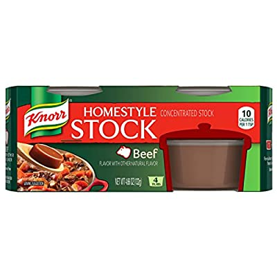 Knorr Homestyle Stock Concentrated Broth, Beef 4.66 oz, (4 count) 4 Packs