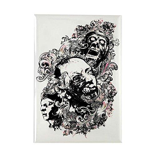 Zombie Rectangle Magnet - Rectangle Magnet Zombie Apocalypse