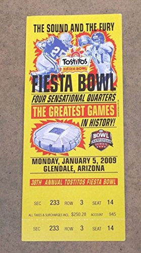 FIESTA BOWL - COLLEGE FOOTBALL FULL TICKET - 2009 - OHIO STATE TEXAS