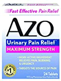 AZO Urinary Pain Relief Maximum Strength –Relieves Pain, Burning & Urgency – Targets the Source of Pain – Fast and Effective – 24 Tablets