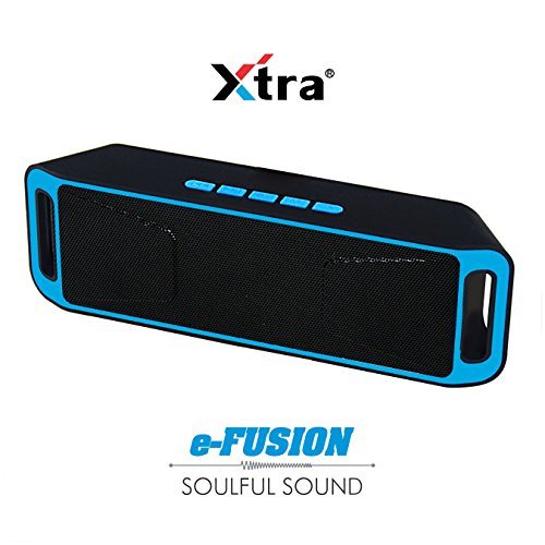 XTRA e-FUSION Wireless 4.1 Bluetooth Speaker Portable Stereo FM Radio – Blue