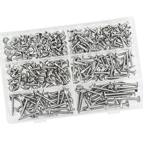 Sutemribor 410 Stainless Steel Self Drilling Screws Set (#8 Wafer Head) by Sutemribor (Image #5)