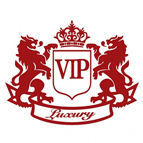 856store The Latest Double Lion Crown VIP Letter Motorcycle Car Decoration Reflective Decal Sticker