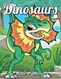 #3: Dinosaurs: An Adult Coloring Book with Cute Cartoon Dinosaurs, Giant Prehistoric Animals, and Relaxing Jungle Scenes (Dinosaur Gifts for Relaxation)