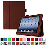 Fintie iPad 2/3/4 Case - Slim Fit Folio Case with Smart Cover Auto Sleep / Wake Feature for Apple iPad 2, the new iPad 3 & iPad 4th Generation with Retina Display, Brown