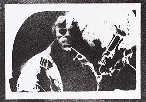 Poster Hellboy Grafiti Hecho a Mano - Handmade Street Art - Artwork