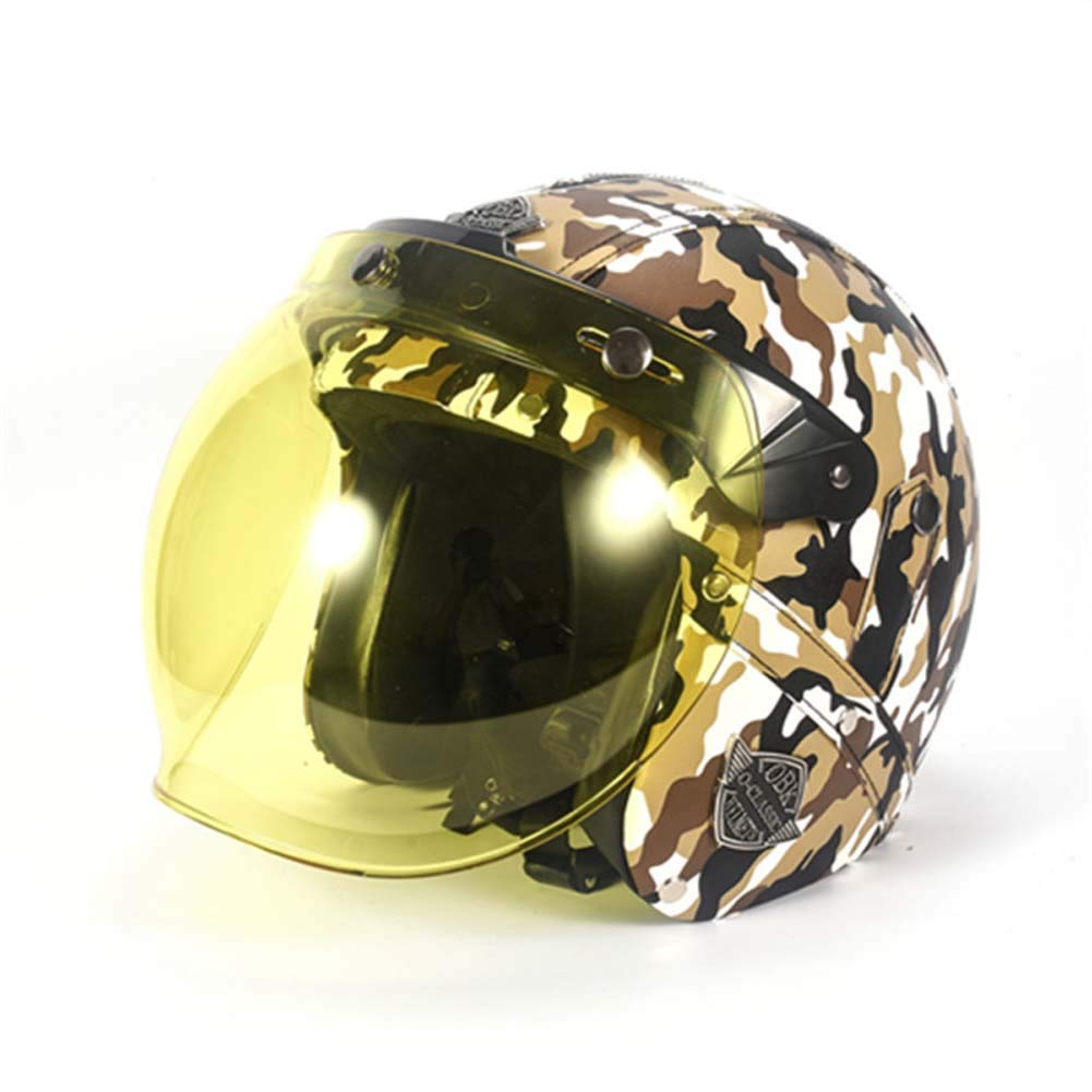 MRXUE Open-Face Anti-Collision Motorbike Helmets,Full Face Helmet Off-Road Anti-Collision Helmet Kit Adult Highway Helmet Road Legal,D,M(56~58Cm)