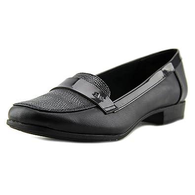 02119019e50 Anne Klein AK Vittorio Women US 10 Black Loafer