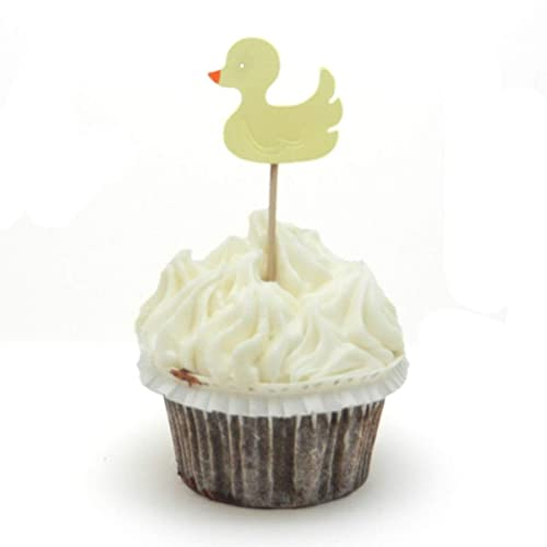 Amazoncom Duck Cupcake Topper Set Of 12 Yellow Duck Rubber