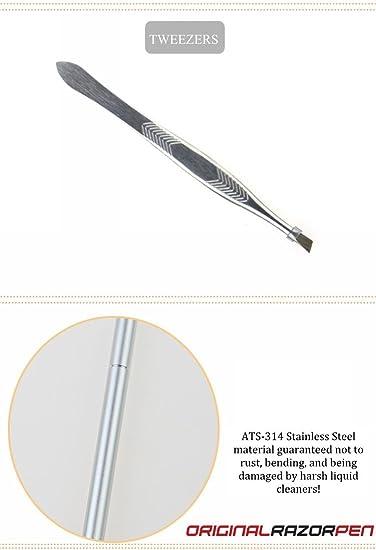 Razor Pen 20 Straight Blade w/Tweezer Shaving for Men Woman Kids | Barber &  Salon Styling