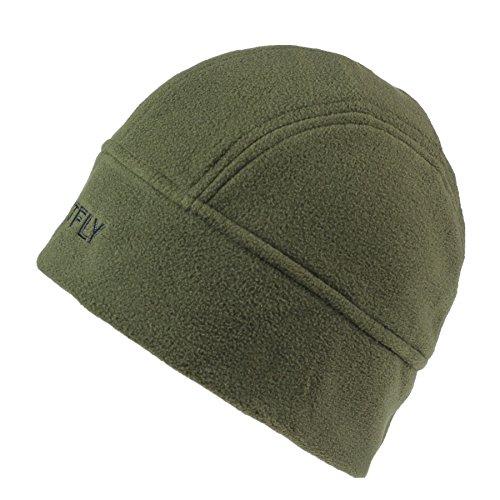 Green Fleece Hat (Connectyle Men  's Lined Fleece Skull Cap Warm Winter Beanie Hats with Moisture Wicking Lining Army Green, 55 59cm)