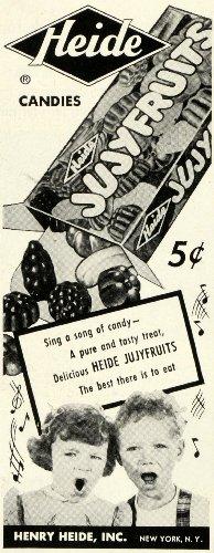 1950 Ad Henry Heide Jujyfruits Gummy Candy Children Pricing Sweets Dessert Treat - Original Print Ad