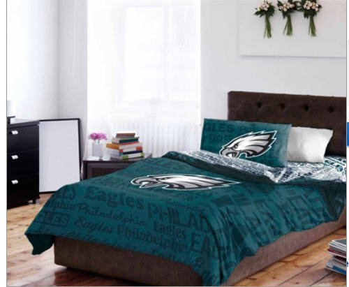 Philadelphia Eagles NFL Full Comforter & Sheet Set (5 Piece Bedding)